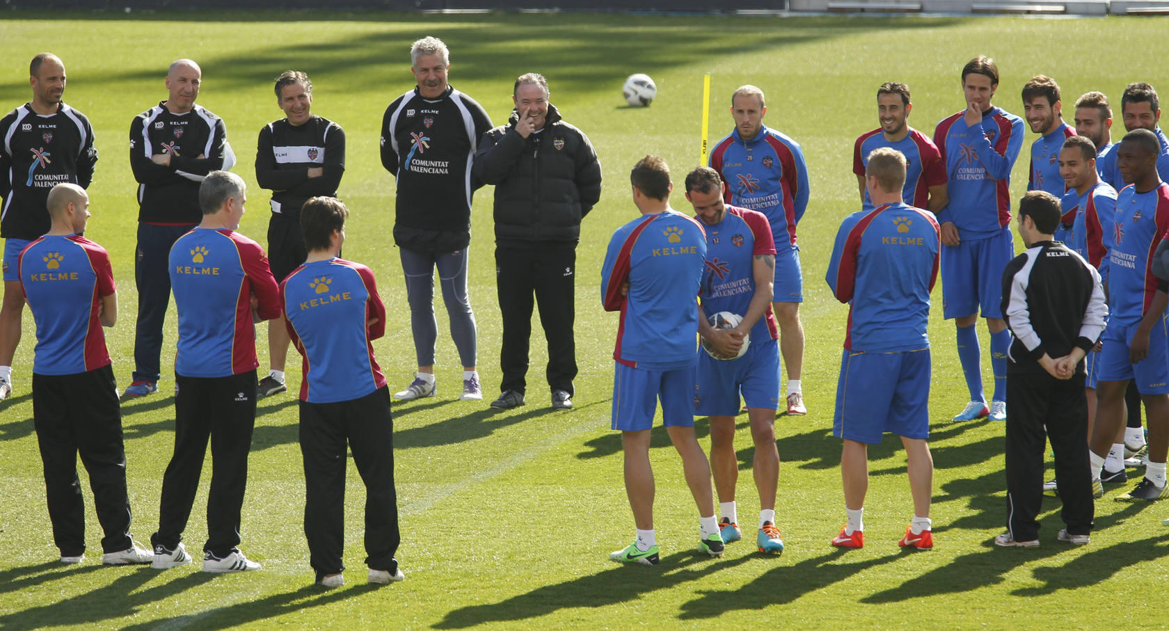 Entrenamiento del Levante (04/04/2013)