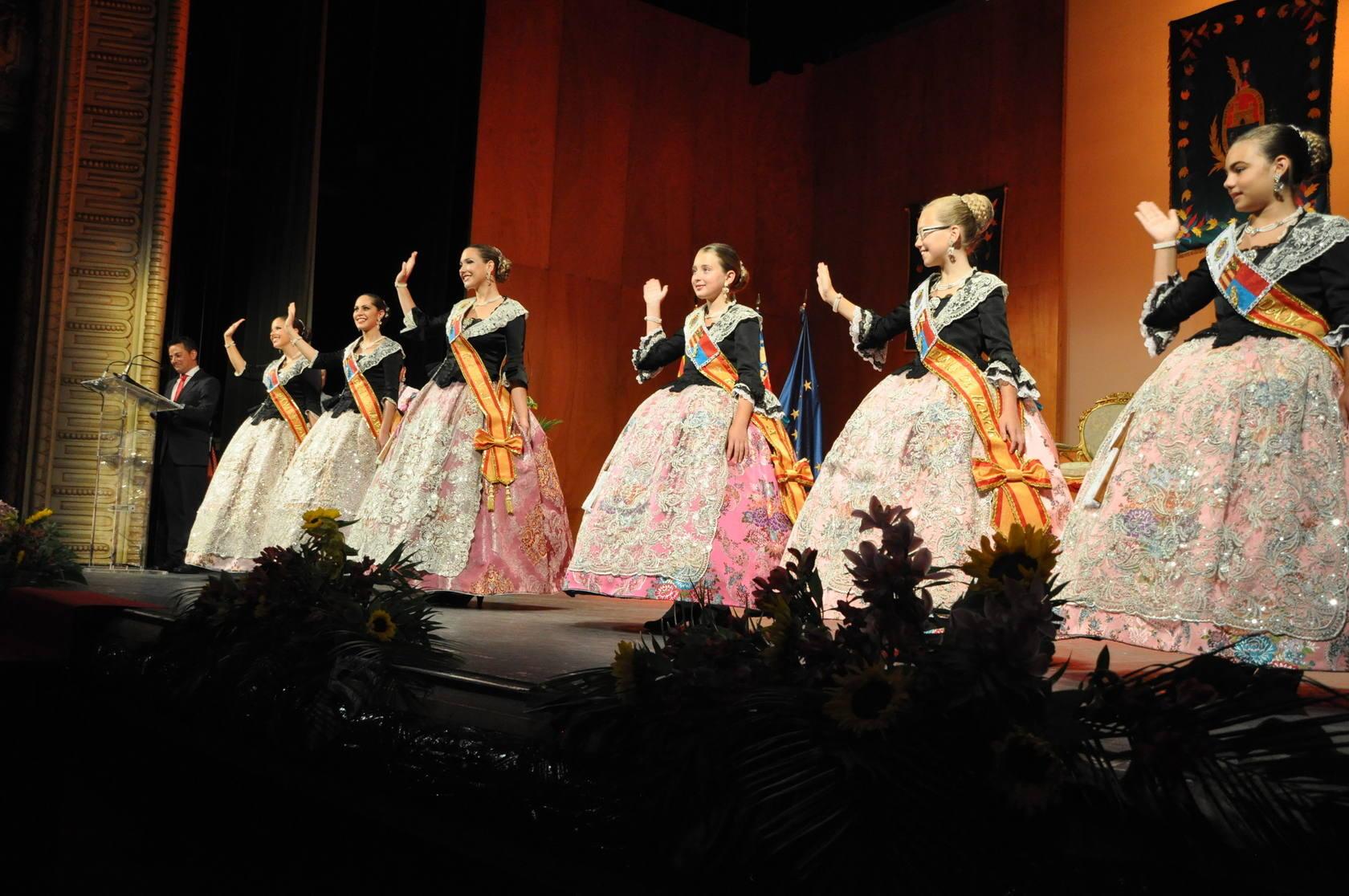 Proclamación de las reinas y damas de las fiestas de Elche 2013