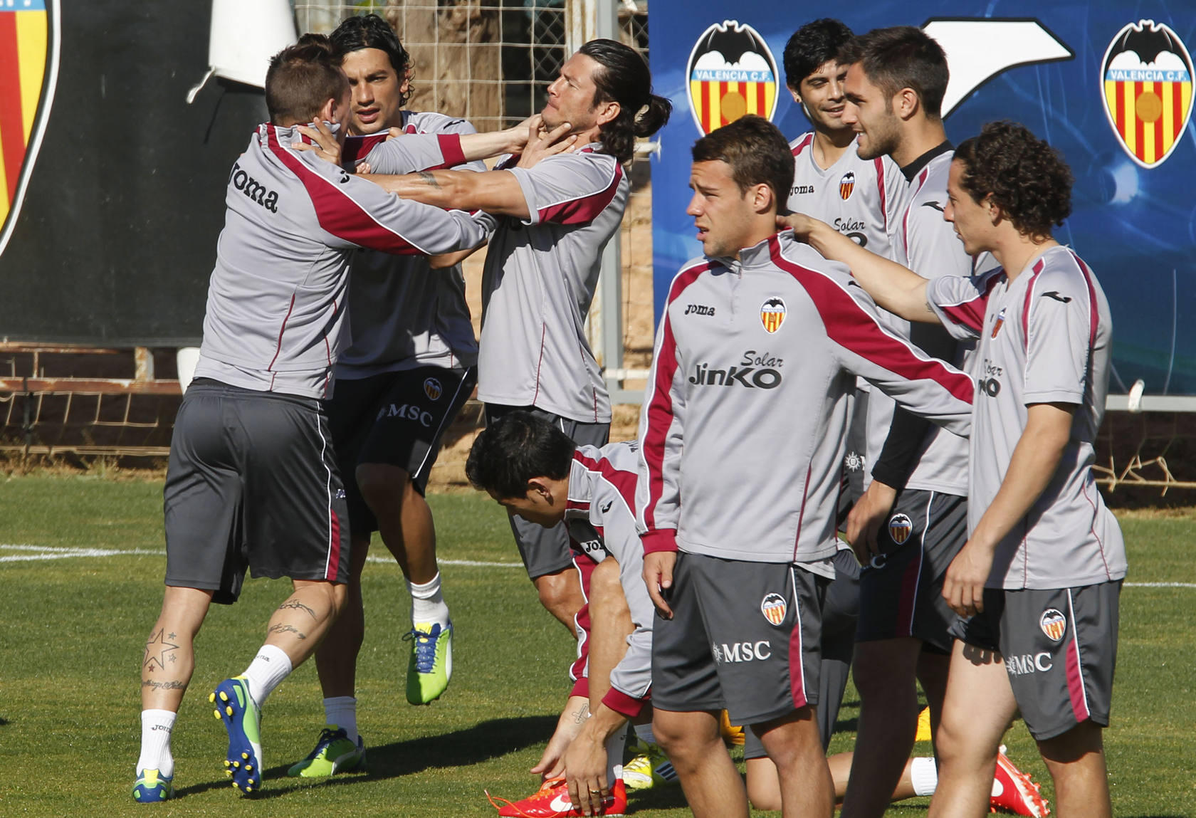 Entrenamiento del Valencia (3 de abril de 2013)