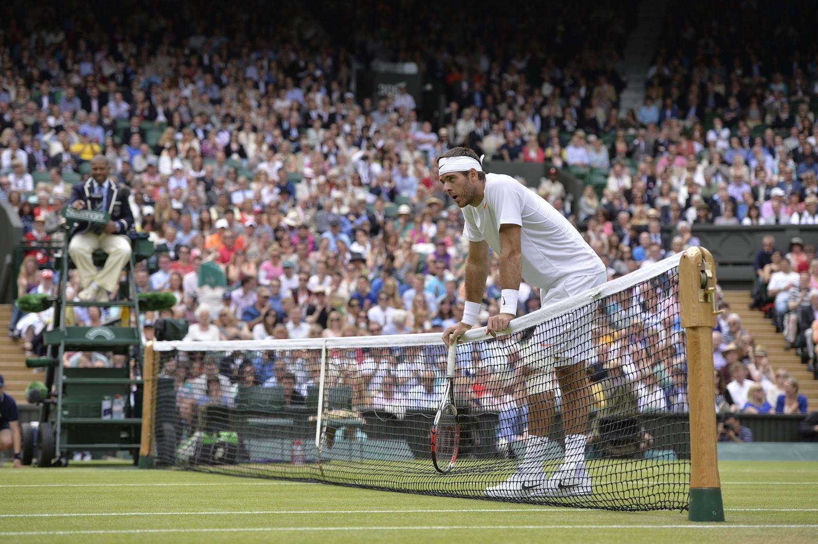 David Ferrer-Juan Martín del Potro en los cuartos de final de Wimbledon