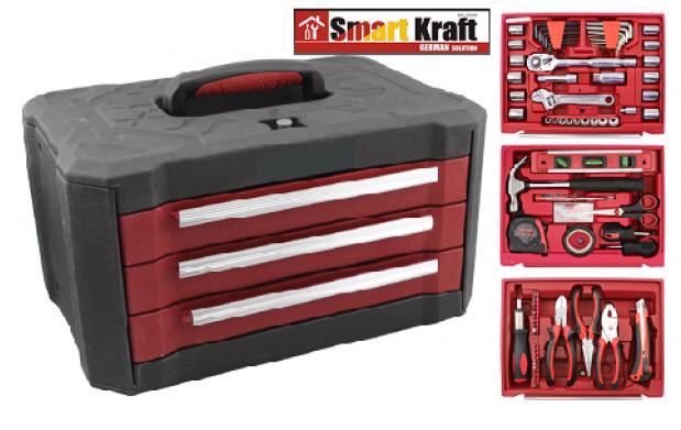 Caja de herramientas 99 piezas con ruedas