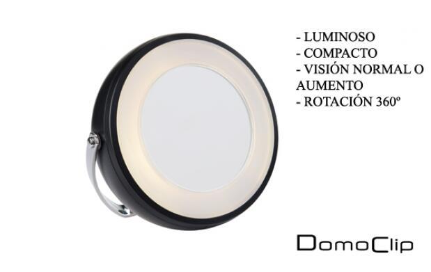 Espejo luminoso con aumento DomoClip