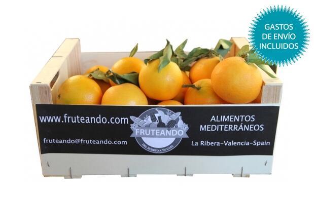 Caja de 10 o 15 kg de naranjas ecológicas