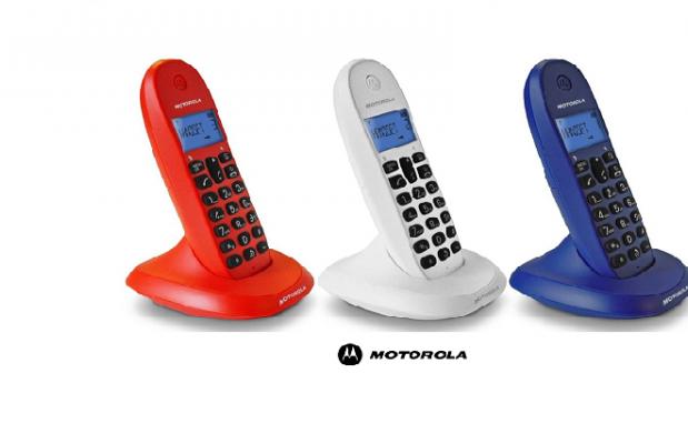 Teléfono inalámbrico Trio Motorola con identificador de llamada