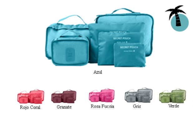 Organizador 6 en 1 para maletas