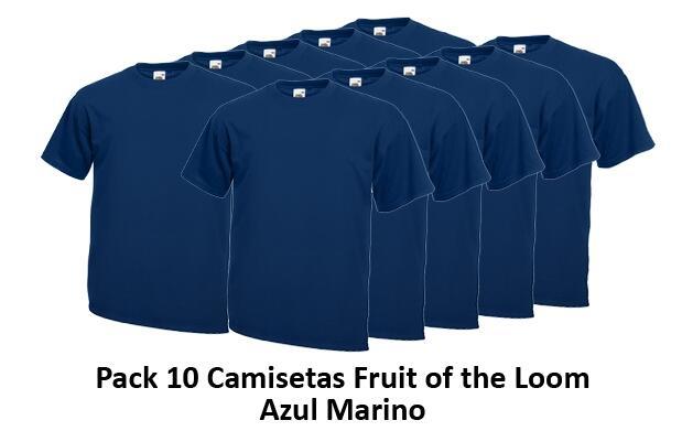 Pack de 10 camisetas Fruit of the Loom