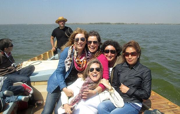 Puesta de sol en barca por la Albufera