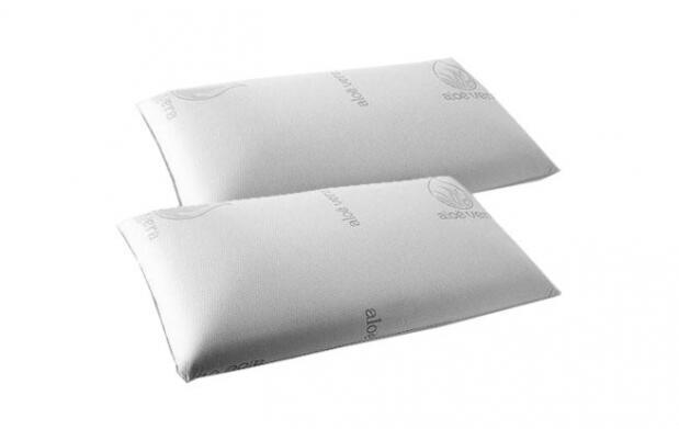 2 almohadas de copos viscoelásticos 70cm