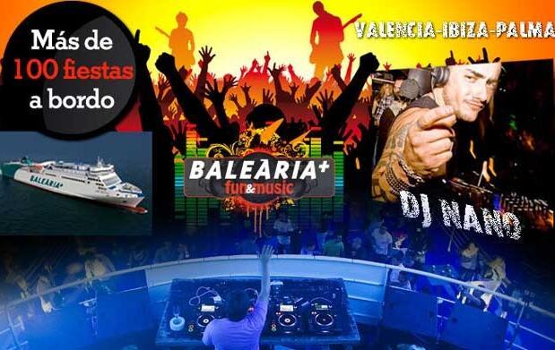 2 pasajes a Ibiza con fiesta y DJ a bordo