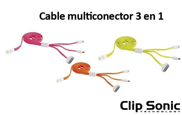 Cable USB Multiconcector 3 en 1
