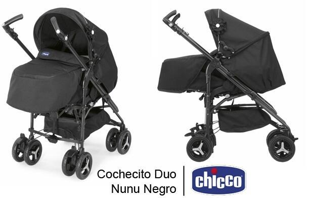 Cochecito Duo Nunu Chicco Negro
