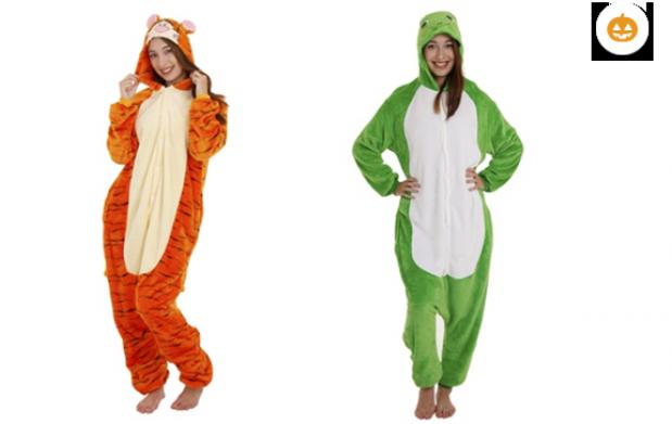Disfraz de cocodrilo, sapo, lagarto y tigre