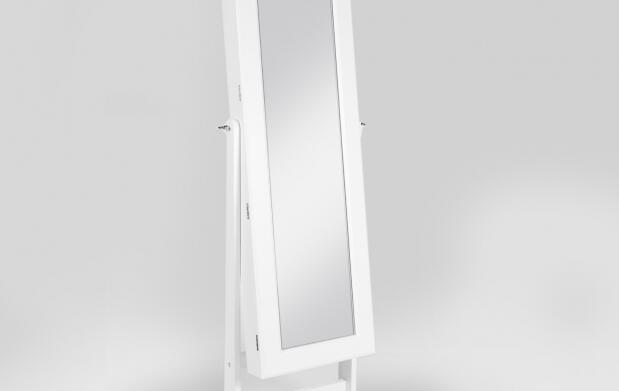 Espejo joyero blanco de madera por 99€