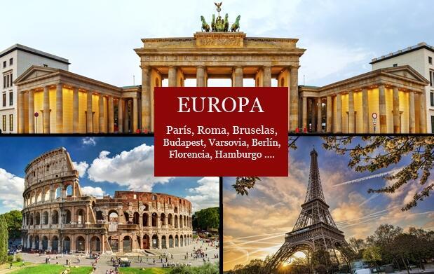 Vuelo + 4 ó 5 días de hotel en Europa