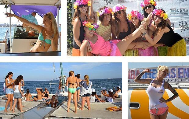 Fiesta en catamarán a mediodía o tarde