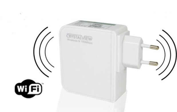 Repetidor Wifi CrystalView 150 Mbps