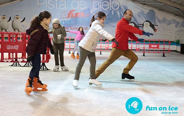 3h de patinaje sobre hielo + merienda