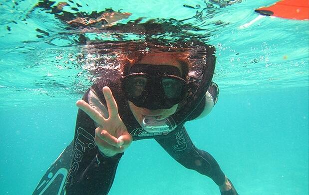 Curso iniciación y tour guiado de snorkel