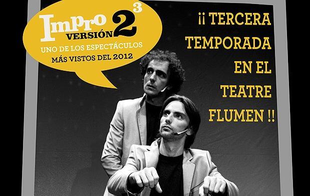 Impro v2 al cubo en el teatro Flumen