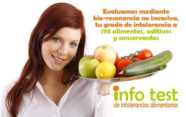 Test de intolerancia a 193 alimentos