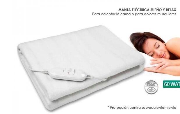 Manta eléctrica Sueño y Relax por 24,99€