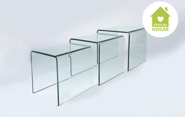 Mesas de cristal apilables