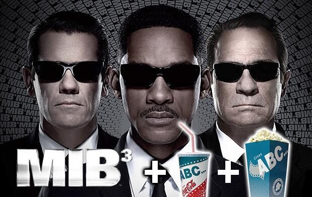 Men In Black 3, refresco y palomitas