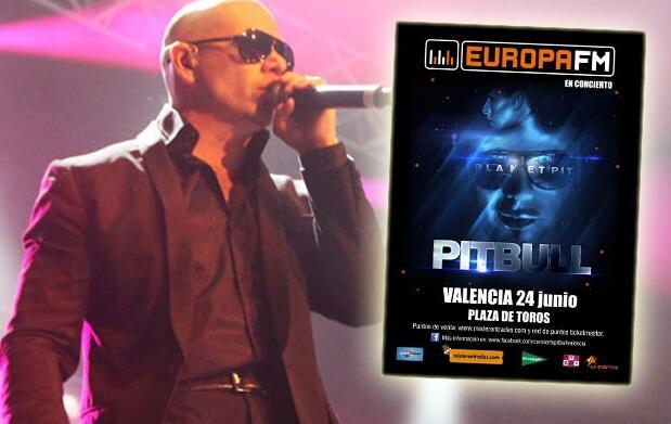 2x1 entradas para Pitbull en Valencia