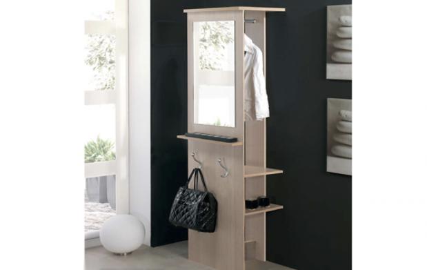 Mueble Recibidor con Espejo y Percheros