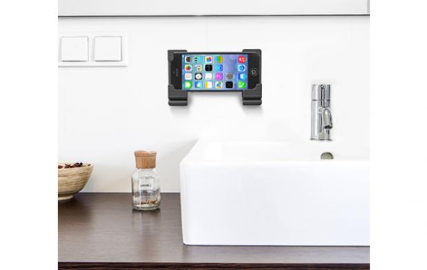 Soporte de pared para tablet y smartphone regulable