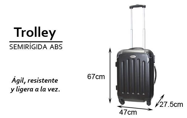 Trolley semirígida ABS