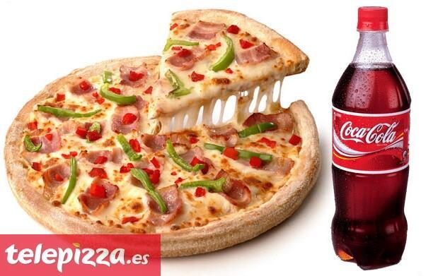 Pizza grande 3 ingredientes + bebida 1L