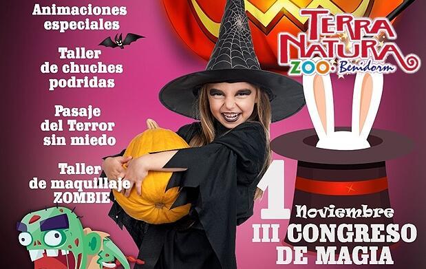Entrada a Terra Natura en Halloween