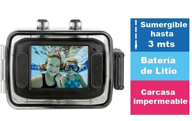 Videocámara deportiva HD + accesorios
