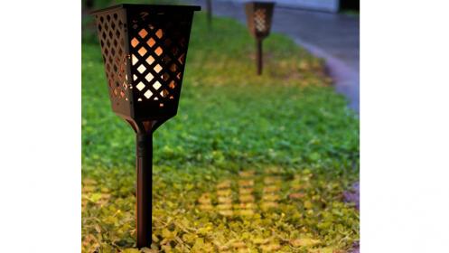 Antorcha led con efecto llama para jardín exterior