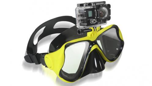 Gafas de Buceo con Adaptador para Cámaras Acuáticas