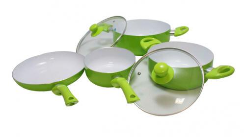 Batería de cocina de 6 piezas de cerámica