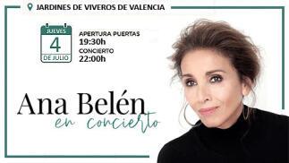 Entradas -40% para el concierto de Ana Belén en Valencia