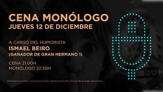 Cena y monólogo de Ismael Beiro en el Casino de Castellón
