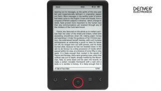 E-book 6'' de tinta electrónica