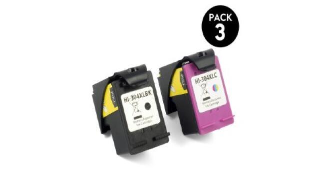 Pack 2 o 3 cartuchos compatibles HP 304XL