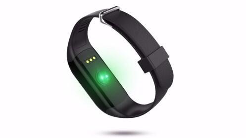 Pulsera inteligente H3 con monitor de ritmo cardíaco.