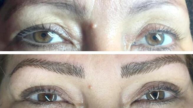 Micropigmentación de cejas, ojos o extensión de pestañas